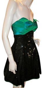 Just Female Empire Waist Ballroom Dance Strapless Sequin Dress