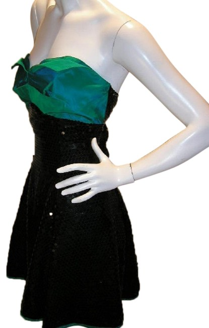Just Female Empire Waist Ballroom Dance Strapless Sequin Dress Image 1