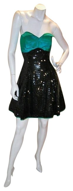 Just Female Empire Waist Ballroom Dance Strapless Sequin Dress Image 10