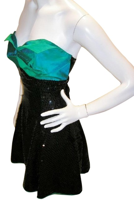 Just Female Empire Waist Ballroom Dance Strapless Sequin Dress Image 2