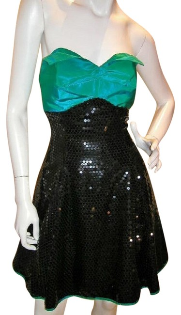 Just Female Empire Waist Ballroom Dance Strapless Sequin Dress Image 3