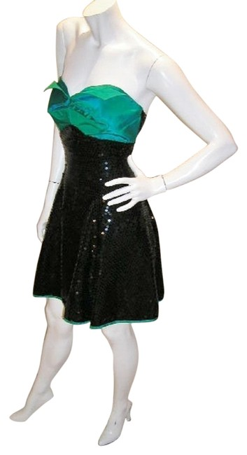 Just Female Empire Waist Ballroom Dance Strapless Sequin Dress Image 4