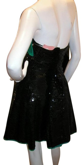 Just Female Empire Waist Ballroom Dance Strapless Sequin Dress Image 6