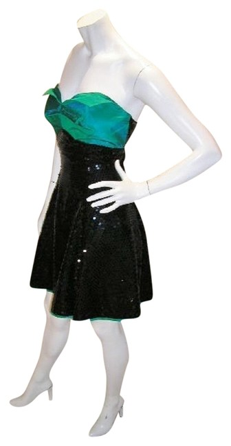 Just Female Empire Waist Ballroom Dance Strapless Sequin Dress Image 8
