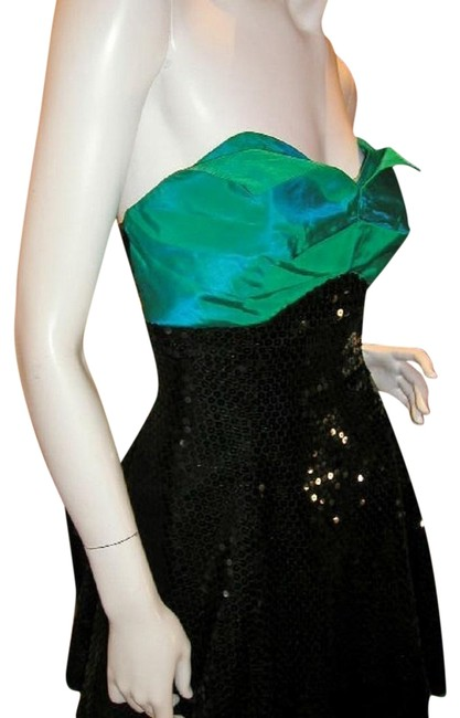 Just Female Empire Waist Ballroom Dance Strapless Sequin Dress Image 9