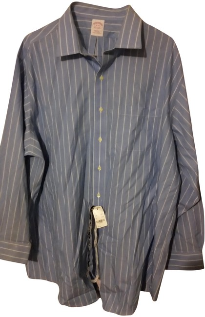 Preload https://img-static.tradesy.com/item/22758924/brooks-brothers-baby-blue-with-white-strips-no-iron-classic-fit-button-down-top-size-18-xl-plus-0x-0-1-650-650.jpg