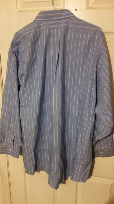 Brooks Brothers #non Irion #dress Shirt Button Down Shirt baby blue with white strips Image 1