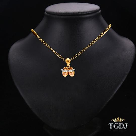 Top Gold & Diamond Jewelry Yellow White Rose Gold 14K Girl's Shoes Pendant Image 2