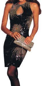 Just Female Dance Party Stretchy Sequin Beaded Dress