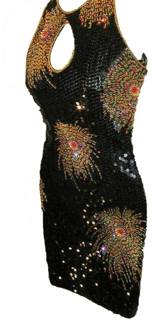 Just Female Dance Party Stretchy Sequin Beaded Dress Image 1