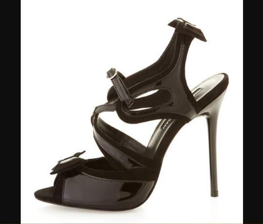 Charles Jourdan Stiletto Patent Black Formal Image 2