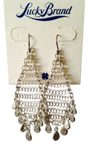Lucky Brand Lucky Brand NWOT Mesh Silver-Tone Shaky Chandelier Earrings
