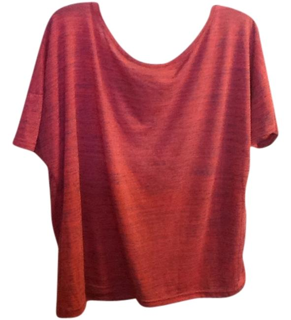 Rubbish Loose Fit Rugged Seams Relaxed Short Sleeve Comfortable Top Red/Black
