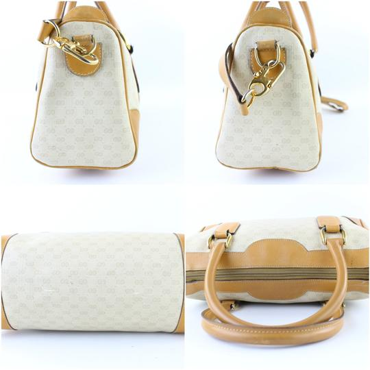 Gucci Bandouliere Speedy 2way Boston Doctors Satchel in White x Brown Image 11