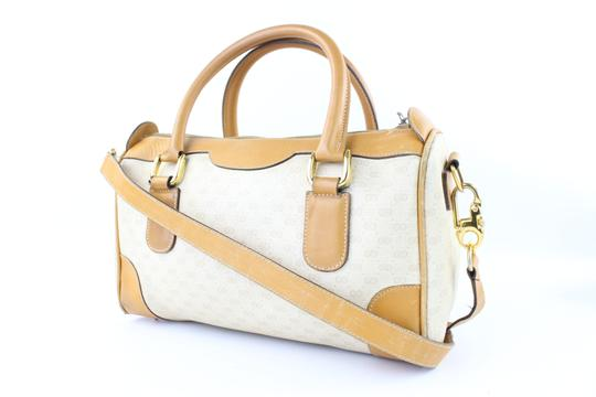 Gucci Bandouliere Speedy 2way Boston Doctors Satchel in White x Brown Image 3