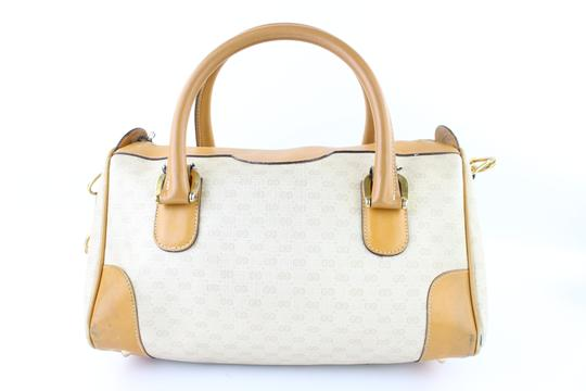 Gucci Bandouliere Speedy 2way Boston Doctors Satchel in White x Brown Image 4