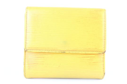 Louis Vuitton Elise Trifold Bifold Square Compact Yellow Clutch