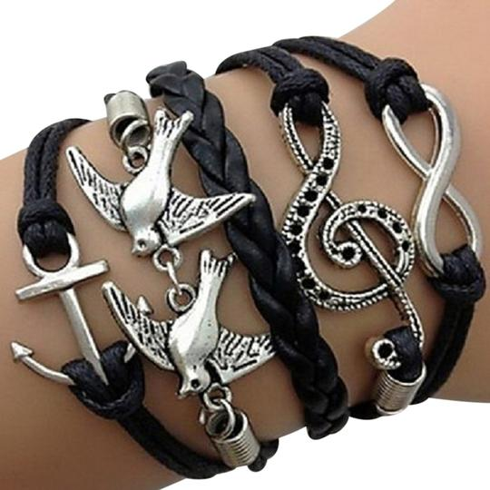 Preload https://item3.tradesy.com/images/silver-black-multilayer-anchor-wings-cross-infinity-charms-handmade-leather-bracelet-2275917-0-0.jpg?width=440&height=440