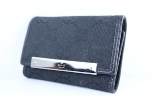 Gucci Keychain Organizer Key Wallet Key Pouch Key Case Black Clutch