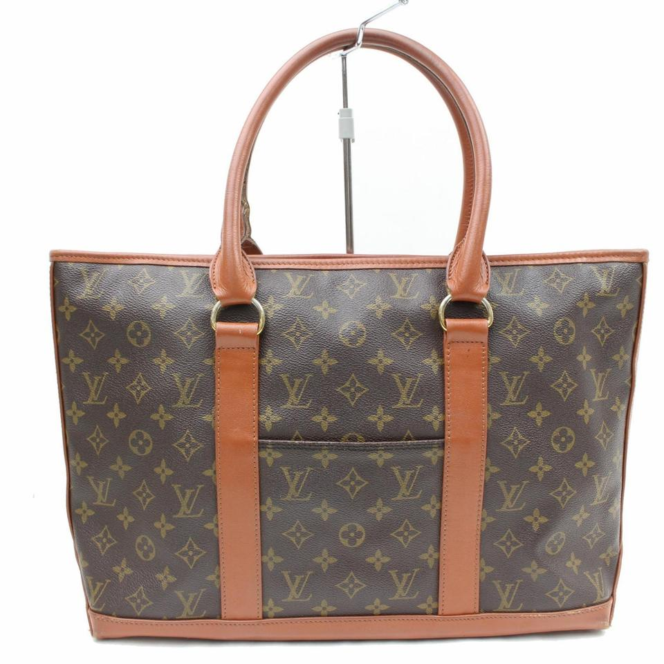 louis vuitton sac weekend pm 865747 brown monogram canvas tote tradesy. Black Bedroom Furniture Sets. Home Design Ideas