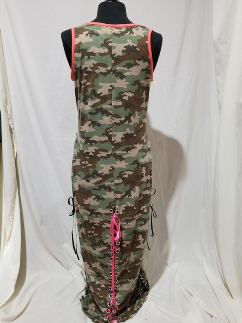 Camouflage Maxi Dress by Bobbie Brooks Camodress Talldress Large Image 1