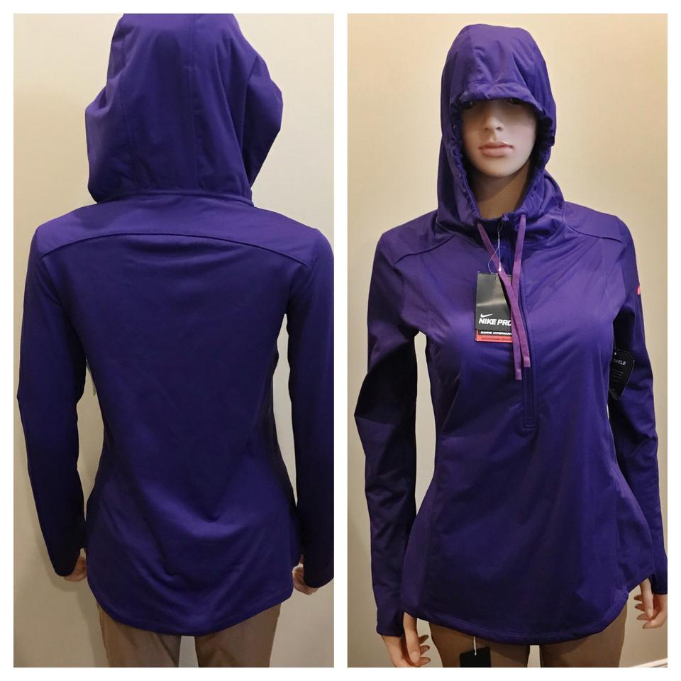 b10e9c693f39 Nike Purple   Blue Pro Hyperwarm 1 2 Zip Pullover Top Activewear ...