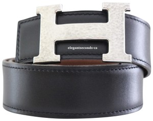 Hermès 32MM/78CM Constance Reversible Belt Kit Hammer Palladium Silver Buckle