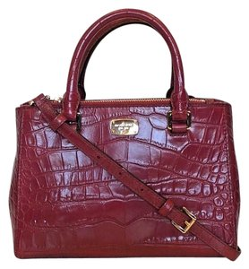 Michael Kors Kellen Tote Satchel in red