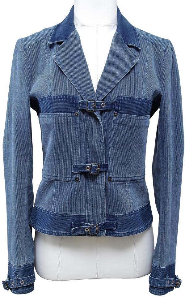 ee6ad9be95a John Galliano Blue Coat Cotton Corduroy Denim Jean Vintage Jacket ...