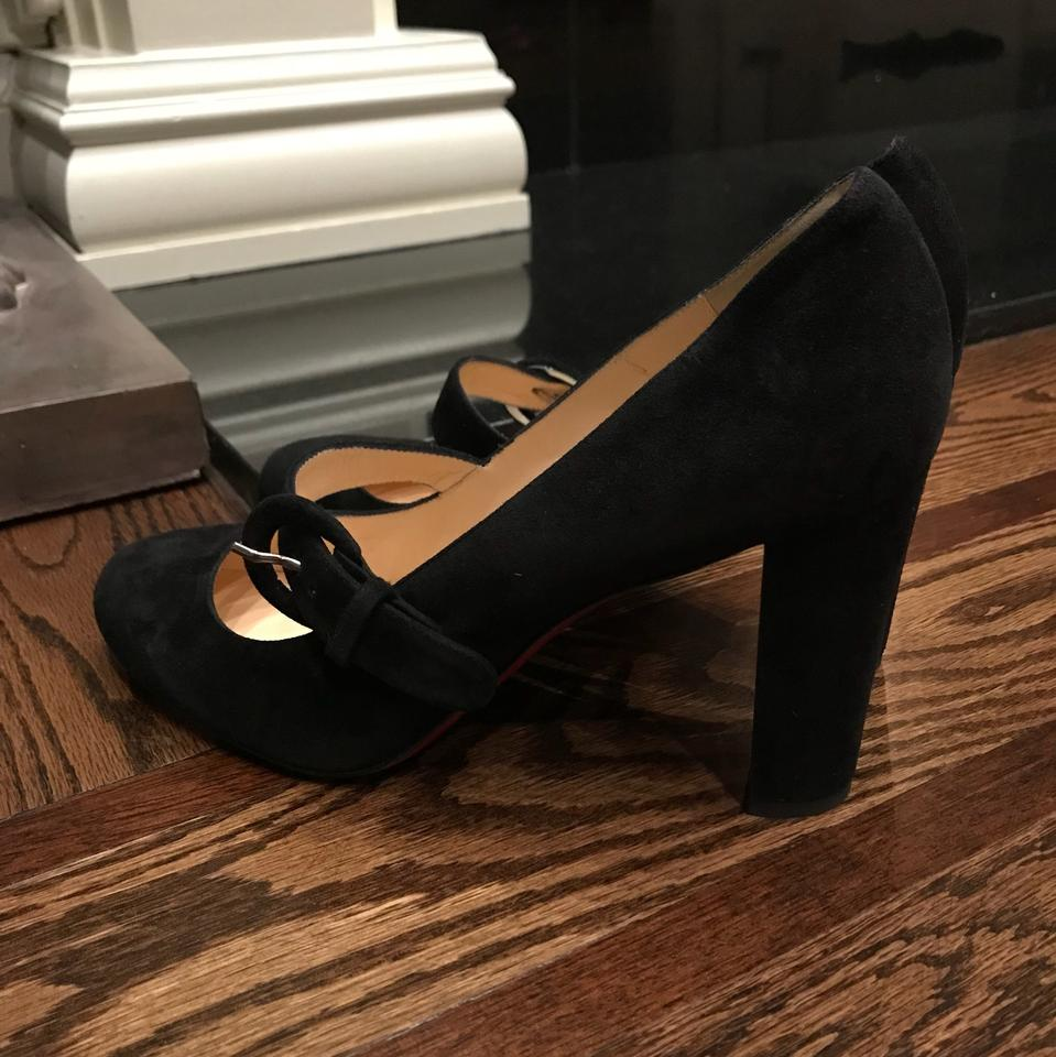 c573b955ac17 Christian Louboutin Black Fyalta Suede Mary Jane Pumps Size EU 35 (Approx.  US 5) Regular (M