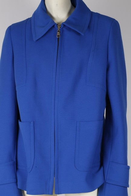 Zara Woman Basic Blue Jacket Image 3