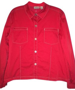 Chico's Button Longsleeve Button Down Shirt Red