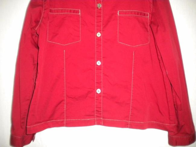 Chico's Button Longsleeve Button Down Shirt Red Image 4
