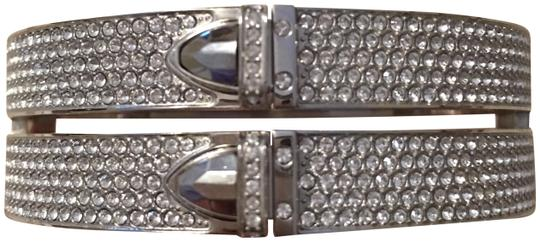 Michael Kors Silver pave crystal double strand bangle bracelet Image 0