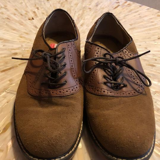 G.H. Bass & Co. Oxford Suede Leather H. Cognac/Tan Flats Image 1