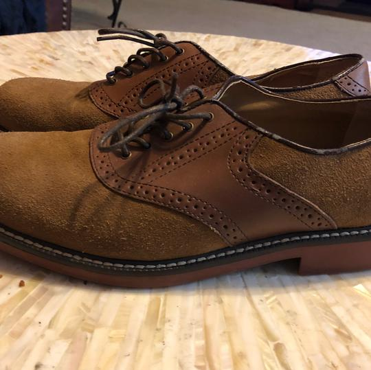 G.H. Bass & Co. Oxford Suede Leather H. Cognac/Tan Flats Image 2