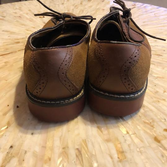 G.H. Bass & Co. Oxford Suede Leather H. Cognac/Tan Flats Image 3