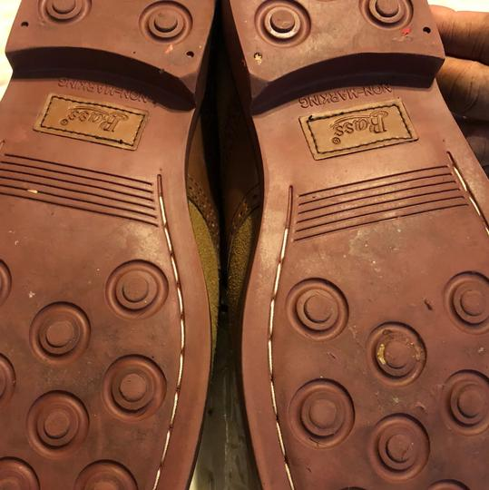 G.H. Bass & Co. Oxford Suede Leather H. Cognac/Tan Flats Image 4