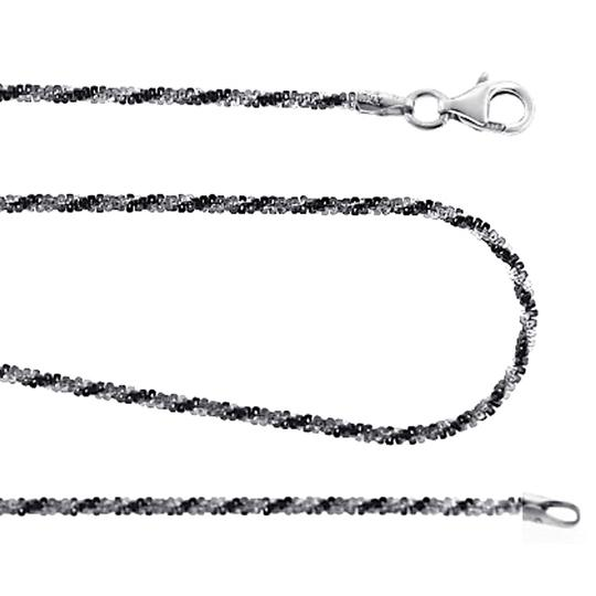 Preload https://img-static.tradesy.com/item/22760323/ny-collection-two-tone-womens-braided-rope-chain-black-white-925-sterling-silver-necklace-0-0-540-540.jpg