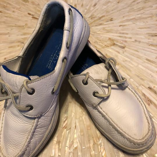 Sperry Topsiders Boat White Flats Image 1
