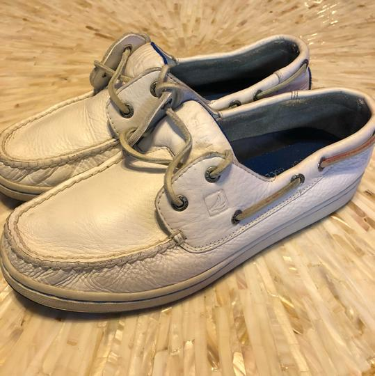 Sperry Topsiders Boat White Flats Image 3