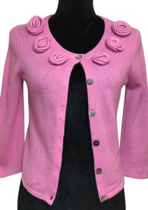 Claudia Nicole Lilly Pulitzer Roses Cashmere Layering Classic Cardigan