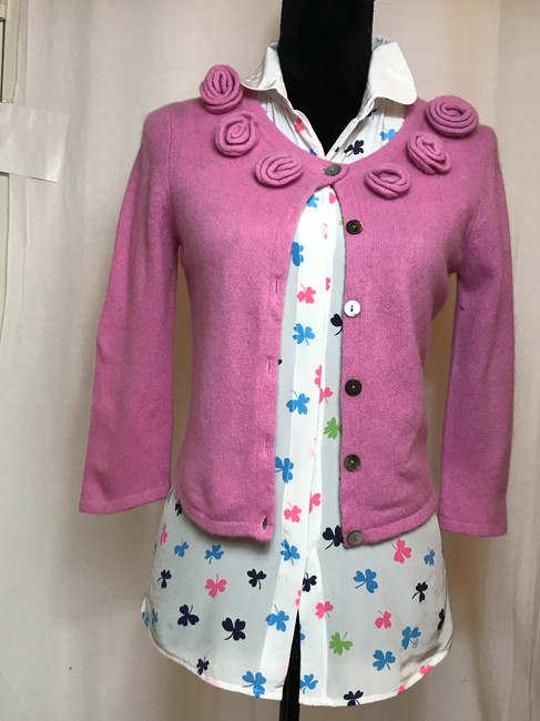 Claudia Nicole Lilly Pulitzer Roses Cashmere Layering Classic Cardigan Image 2