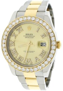 Rolex Datejust II 2-Tone Gold/Steel 41MM 116333 w/Diamond Roman, 4.0Ct Bezel