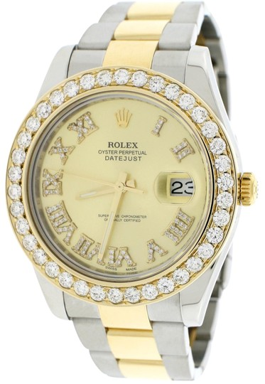 Rolex Datejust II 2-Tone Gold/Steel 41MM 116333 w/Diamond Roman, 4.0Ct Bezel Image 0