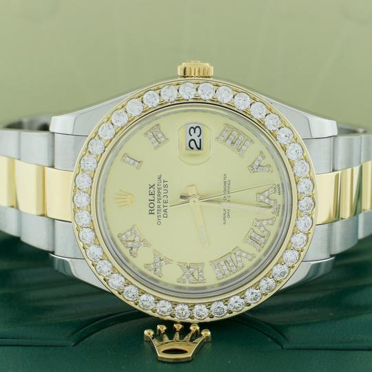 Rolex Datejust II 2-Tone Gold/Steel 41MM 116333 w/Diamond Roman, 4.0Ct Bezel Image 1