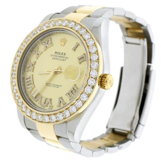 Rolex Datejust II 2-Tone Gold/Steel 41MM 116333 w/Diamond Roman, 4.0Ct Bezel Image 2