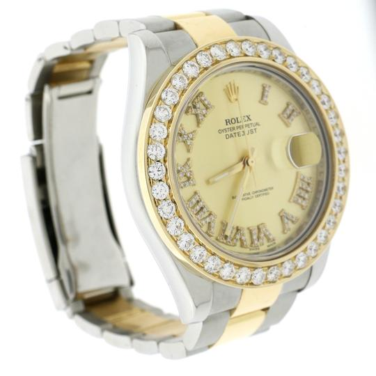 Rolex Datejust II 2-Tone Gold/Steel 41MM 116333 w/Diamond Roman, 4.0Ct Bezel Image 3