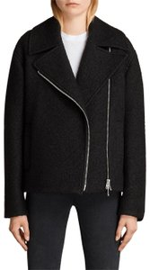 AllSaints Wool Peacoat Motorcycle Jacket