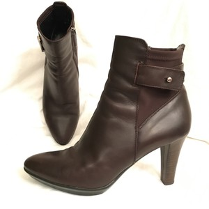 Aquatalia Leather Platform Comfortable Dress Casual Brown Boots